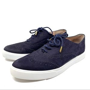 Kate Spade Catlyn Oxford Sneaker Navy Blue 9 F196